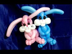 Adorable Easter Bunnies Balloon Twisting - YouTube