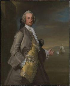 Captain Richard Chadwick, d. 1748 - Knapton, 1744