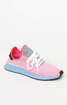 brand new c92b0 be5e2 adidas Red  Blue Deerupt Runner Shoes