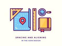 Even Spacing and Aligning in The Icon Design by Justas Galaburda