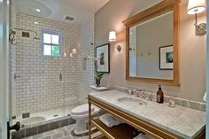7 Inventive Tricks: Shower Remodeling Ideas Bathroom Updates shower remodel with window glass blocks.Stand Up Shower Remodeling Cheap small shower remodel on a budget.Shower Remodeling With Seat. Tub To Shower Remodel, Diy Bathroom Remodel, Bathroom Remodeling, Remodeling Ideas, Bathroom Updates, Bathroom Ideas, Small Full Bathroom, Bathroom Modern, Stone Tile Flooring