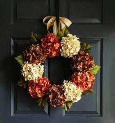 Hydrangea Wreath  Front Door Wreaths  Summer by HomeHearthGarden