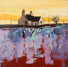 Crinan Croft by scott naismith - Like the loose foreground and the tight background. unique