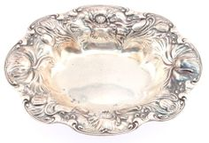 Sterling Silver Small Floral Serving Dish 1097 Wallace
