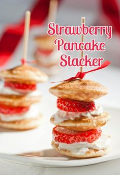 The perfect bridal brunch treat! Pancake stackers!