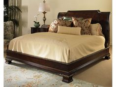 Thomasville Hemingway Collection Leather Sleigh Bed