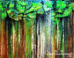 """""""Fine pluie, éveil des sens"""" Peinture numérique intuitive inspirée par des…"""