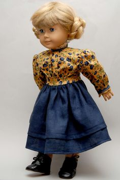 Kirsten's Indigo Outfit American Girl Dolls  by Dollhouse Designs http://www.etsy.com/shop/DollhouseDesigns