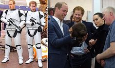 William and Harry secretly film Stormtrooper roles for next Star Wars