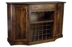 Deluxe solid wood storage for stemware and wine bottles. Comes in 3 sizes to best host your party. Wine Bar Cabinet, Wine Cabinets, Wine In The Woods, House In The Woods, Wine Storage, Tall Cabinet Storage, German Beer Steins, Wine Subscription, How To Make Beer