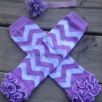 #babygirl #legwarmers #leggings #chevron #girl #set #headband  These are so great for your little crawlers, photo shoots, dresses or even just because it's fun to wear them!  These do stretch to a good size from 6 months to 3-4T.   We all love sets, so with these come a matching lavender bow on chevron elastic. Adorned with pearl centers its the perfect ...