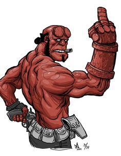 ✯ Hellboy :: By ~Quasilucid ✯