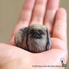 "1,985 Likes, 91 Comments - Stone Artist Akie (@akie_2525) on Instagram: ""Thank you for visiting and loving my pieces. Here is my latest piece that sweet Pekingese💗…"""