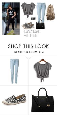 """""""Lunch Date with Louis"""" by cocogirl19 on Polyvore featuring Frame Denim, Walnut Melbourne, MICHAEL Michael Kors, GUESS, OneDirection, 1d and louistomlinson"""