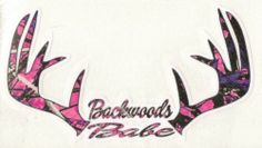 ~**NEW ITEM**~ Backwoods Babe Muddy Girl Camo Vinyl Decal / Sticker (For the Jeep)