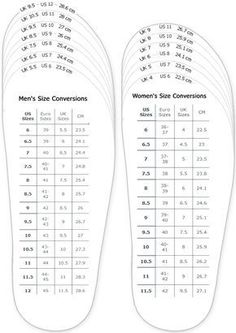 Correspondance taille chaussures EUR/USA