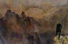 'Der Wanderer über dem Nebelmeer' von Marie Luise Strohmenger bei artflakes.com als Poster oder Kunstdruck $18.03