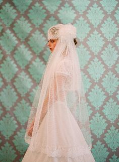 Bridal lace cap with veil, french and vintage inspired - Style 103 - Made to Order.....from Twigs and Honey