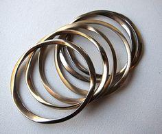 1970s/1980s stack metal bracelets bangles