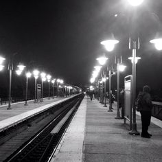 Woodside train platform on the no 7 train. Queens NY