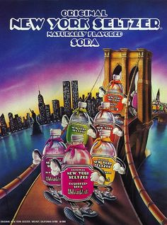 The joy of drinking New York Seltzer. I used to beg my parents to buy this stuff for me. 50 Things only 80s kids can understand.