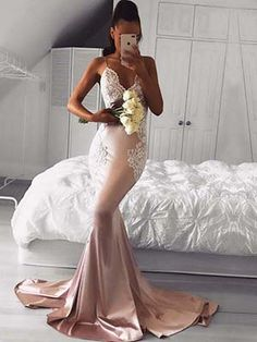 Pink Prom Dresses Long,Modest Formal Evening Dresses Mermaid,Sexy Lace Military Ball Dresses V-neck,Silk-like Satin Pageant Graduation Party Dresses Sleeveless Mermaid Prom Dresses Lace, Pink Prom Dresses, Backless Prom Dresses, Cheap Prom Dresses, Wedding Party Dresses, Satin Dresses, Ball Dresses, Sexy Dresses, Lace Mermaid