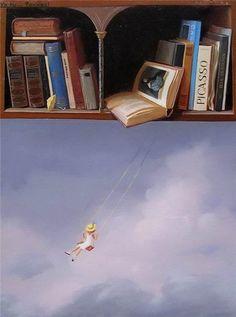 Open a book...