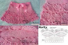 Faldas tejidas para niña