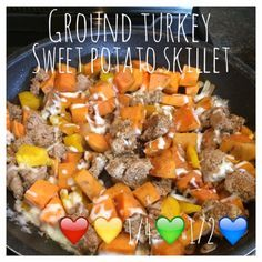 Di's Food Diary 21 Day Fix Approved Recipes = Ground Turkey Sweet Potato Skillet