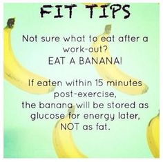 Bananas are an awesome post-workout food