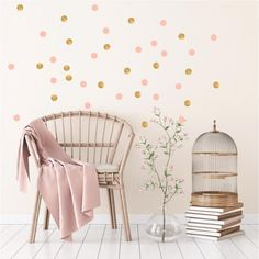 Magical Star wall transfers from Pom Le Bonhomme. These rose pink and gold vinyl transfers will give a Scandinavian feel to any children's bedroom or nursery. Feminine Bedroom, Gold Bedroom, Trendy Bedroom, Kids Bedroom, Bedroom Decor, Wall Decor, Sage Green Walls, Wall Transfers, Polka Dot Walls