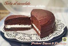 Torta al cioccolato con crema di latte, grandi e piccini ne vanno matti per questa torta tanto buona. ideale per compleanni e ricorrenze e per festività.