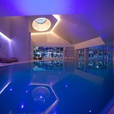 Save Money with LED with Illuminated Indoor Pool.