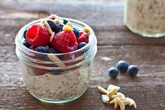 """Combine chia seeds with almond milk for a slimming """"pudding."""""""