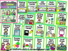 22 center signs and cards by lidia barbosa kinder alphabet