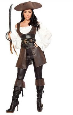 aliexpresscom buy duluxe leather pirate costume new halloween cosplay costume dress carnival outfit - Pirate Halloween Costumes Women