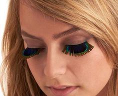 Peacock feather dramatic false eyelashes are one example of looks that need to stay on the runway.