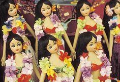 Beautiful vintage hula dolls