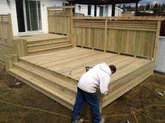 Multi-stage Patios – Wood Patio - All About Cool Deck, Diy Deck, Deck Plans, Pergola Plans, Pergola Ideas, Porch Ideas, Patio Ideas, Decking Ideas, Pergola Kits