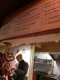 Mercatini di Natale di Merano con menu completo di legenda :)