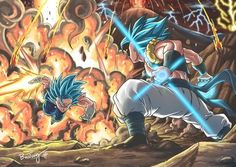 Dragon Ball Gt, Gogeta Vs Vegito, Foto Do Goku, Manga Dragon, Old Anime, Fan Art, Anime Demon, Animes Wallpapers, Anime Comics