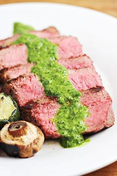 This week's Linky Party Favorite: Grilled Steak with Easy Chimichurri Sauce is perfect for summer cookouts. Chimichurri Sauce is quick and excellent with your favorite grilled steak. Find the link to this delicious recipe on www.Embellishmints.com