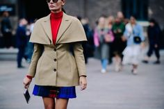 How Giovanna Battaglia does fashion week.    Photo by Adam Katz Sinding.