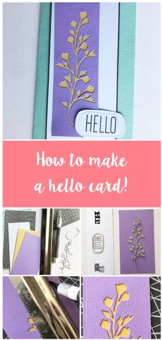Say hello to those you may not be able to see right now through cardmaking. 🙌 Check out how to make this Hello card on the blog now! 😍  See how to make on the blog now.   #sizzix #papercraft #craft #diecutting #sizzix #creative #handmade #creative #craftsposure #cardmaking #cardideas How To Make Light, Craft Materials, Craft Activities, Say Hello, Daily Inspiration, Paper Cutting, Bookmarks, Cardmaking, Card Stock