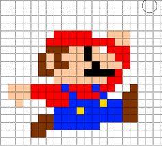 Minecraft Pixel Art Templates: Mario Pixel Art