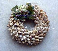 Wine Cork Wreath  centerpiece floral alternative by Corkycrafts, $40.00