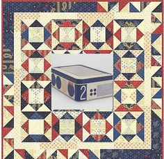Moda Frivols 2 Quilt Kit comes in Collectible Tin by TwoChisInAPod