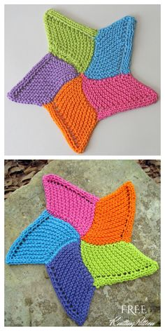 Knitted Dishcloth Patterns Free, Knit Dishcloth, Easy Knitting Patterns, Knitting Stitches, Free Knitting, Knitting Projects, Crochet Patterns, Easy Knit Hat, Knitted Hats