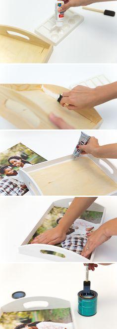 DIY Family Photo Tray | Snaps: A Blog from SnapBox