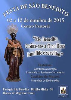 Agenda Cultural do ALTO TIETÊ: De 02 a 12 outubro - Festa de São Benedito: Padroe...